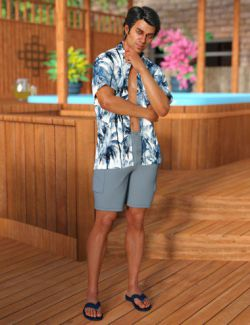 dForce Poolside Oahu Outfit for Genesis 8 Male(s)