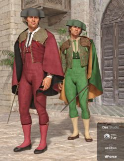 dForce Matador Outfit Textures