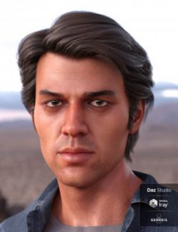 Carlos Hair for Genesis 8 and Genesis 3 Male(s)