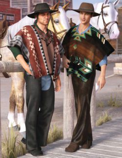dForce Western Poncho Outfit Textures