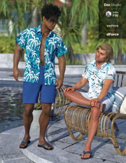 dForce Poolside Oahu Outfit Textures