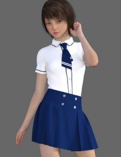dForce CB School Uniforms for Genesis 8 Female(s)
