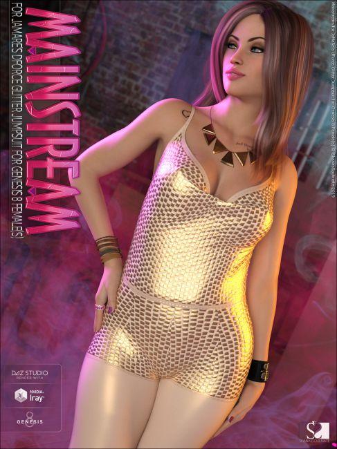 Mainstream for JMR dForce Glitter Jumpsuit for Genesis 8 Female(s)