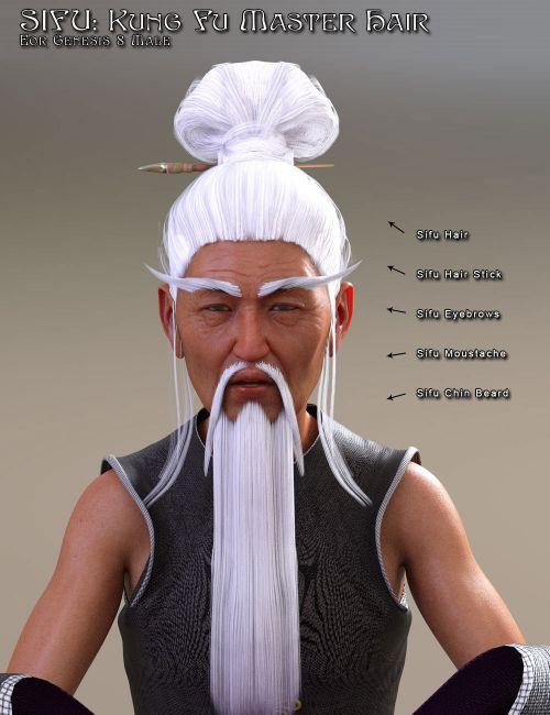 Sifu: Kung Fu Master Hair  for G8M