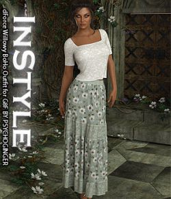 InStyle- dForce Willowy BoHo Outfit for G8F