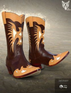 ZK Country Boots for Genesis 3 and 8 Male(s)