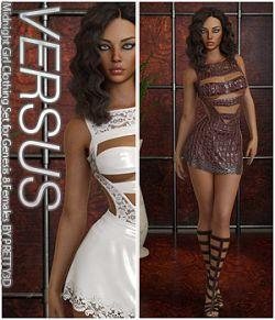 VERSUS- Midnight Girl Clothing Set for Genesis 8 Females