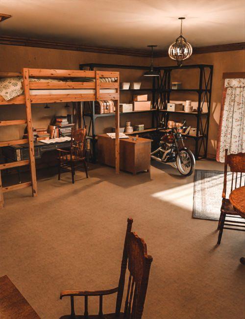 1920s Teenager Room