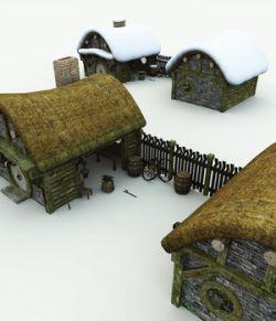 Halfling Village Blacksmith for Blender