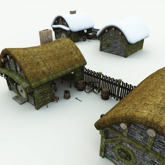 Halfling Village Blacksmith for Poser