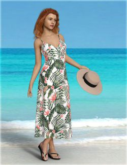 dForce H&C Beach Resort Outfit for Genesis 8 Female(s)