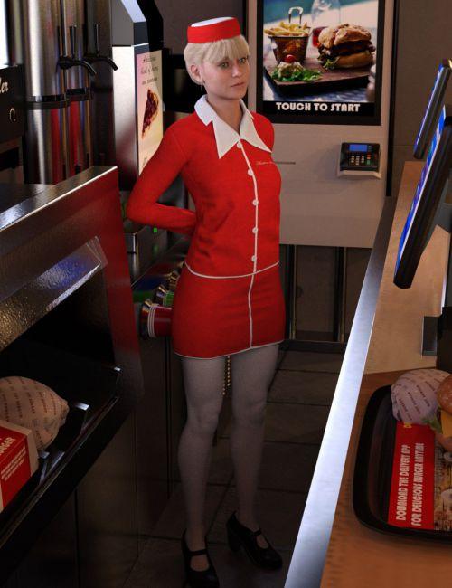 Hostess Uniform for Genesis 8 Female(s)