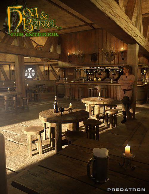 Hog and Barrel Pub Interior