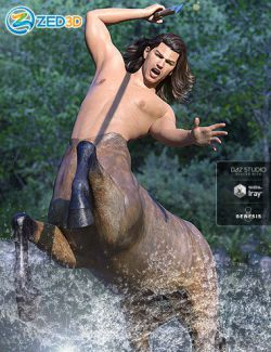 Z Invincible Poses and Expressions for Genesis 8 Male Centaur