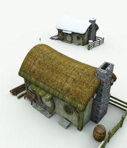 Halfling Village Woodcutter for Blender