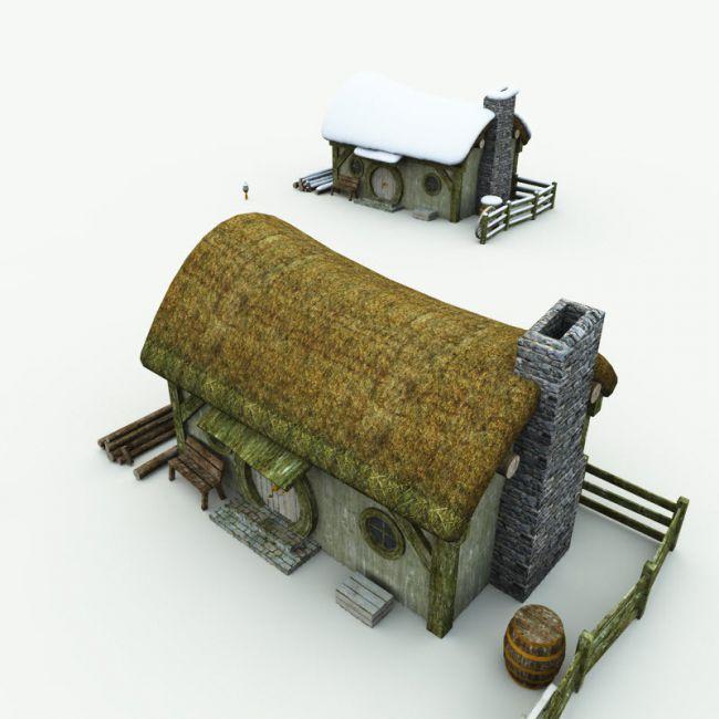 Halfling Village Woodcutter  for Poser