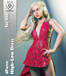JMR dForce High-Low Dress for G8F