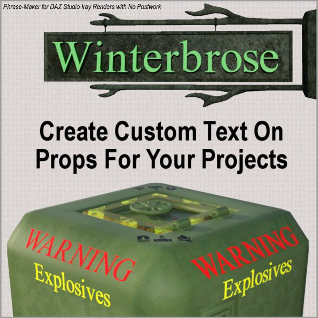 PHRASE-MAKER, 3D Writing and Design Scripts for Daz Studio