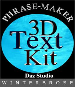 PHRASE-MAKER, 3D Writing and Design Scripts for Daz Studio with Bonus 3D Font