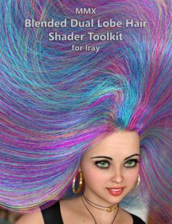 MMX Blended Dual Lobe Hair Shader Toolkit for Iray