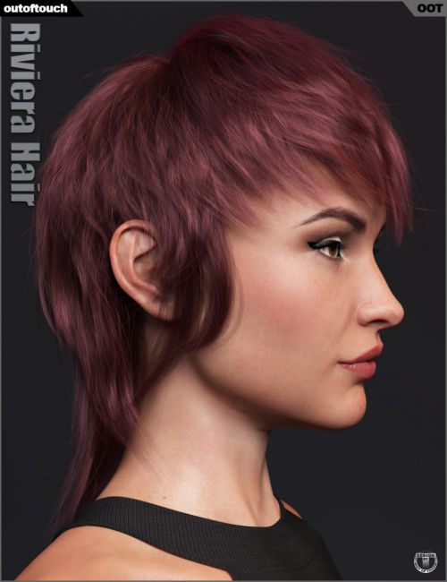 Riviera Hair for Genesis 3 and 8