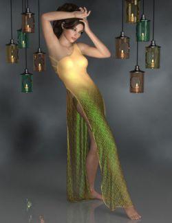 dForce Scarlett Nightgown for Genesis 8 Female(s)