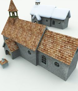 Halfling Village Church for Vue
