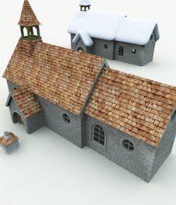 Halfling Village Church for Poser