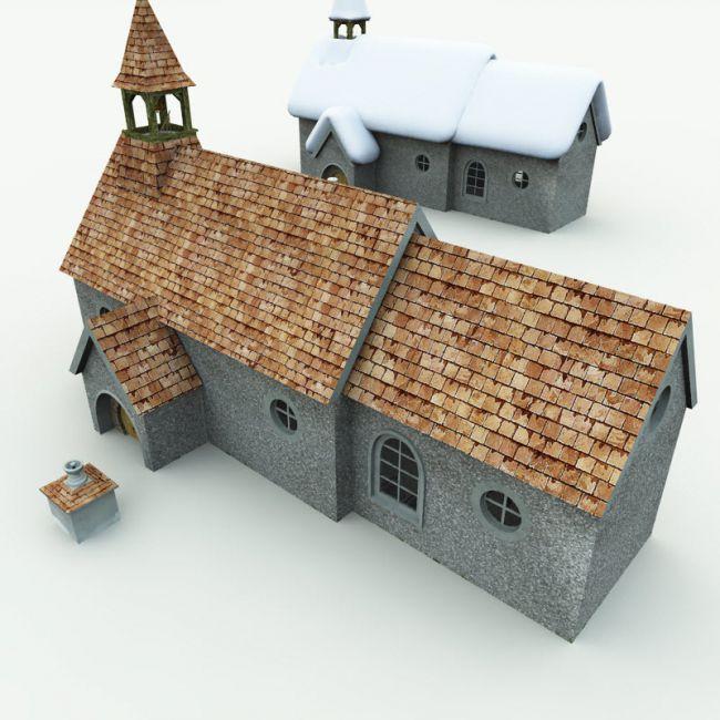 Halfling Village Church for Bryce