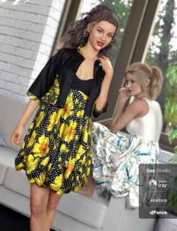 dForce Boho Boutique Bubble Dress for Genesis 8 Female(s)