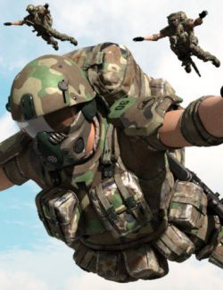 Colonial Forces Add-on for Tactical Assault Outfit for Genesis 8 Male(s)