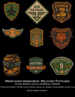 Astro and Military Patch Merchant Resource
