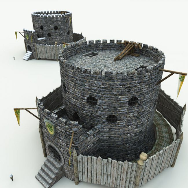 Halfling Village Guardhouse for Blender