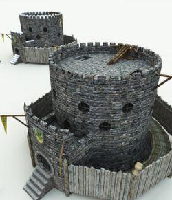 Halfling Village Guardhouse for Poser