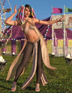 dForce Khamsin Outfit for Genesis 8 Female(s)