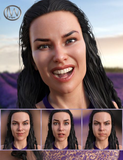 Energetic Life Expressions for Genesis 8 Female and Babina 8