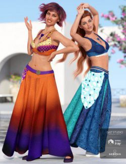 dForce Roma Dancer Outfit Textures