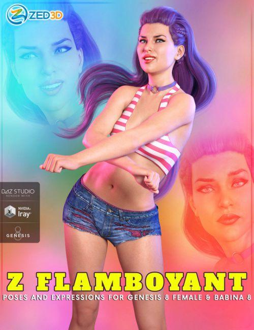 Z Flamboyant Poses for Genesis 8 Female and Babina 8