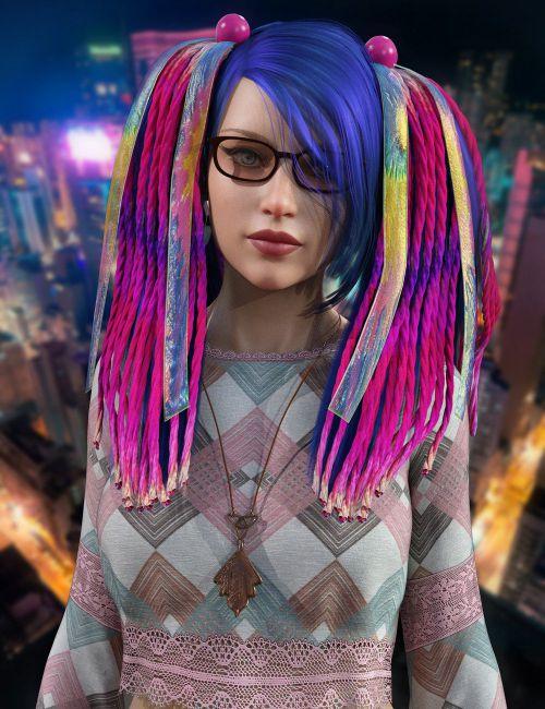 Raver Hair For Genesis 8 Females
