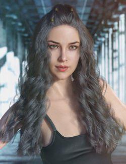 dForce Faye Hair for Genesis 3 and 8 Female(s)