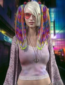 Raver Hair for Genesis 8 Females