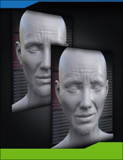 Aging Face Details HD for Genesis 3 and 8 Bundle