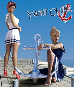 Yacht Club dForce dress for Genesis 8 Females