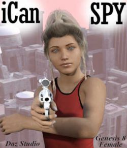iCan SPY Poses for Genesis 8 Female (G8F) in Daz Studio