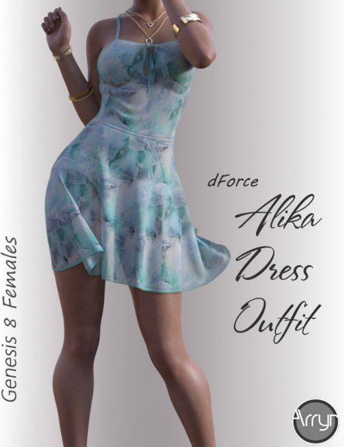 dForce Alika Candy Dress Outfit for Genesis 8 Female(s)