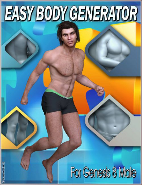 EJ Easy Body Generator For Genesis 8 Male(s)