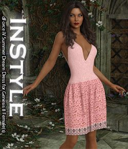 InStyle- dForce iV Summer Dream Dress for Genesis 8 Female(s)