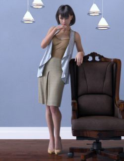 dForce Shrug Style Outfit for Genesis 8 Female(s)