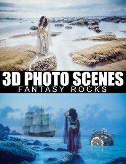 3D Photo Scenes - Fantasy Rocks