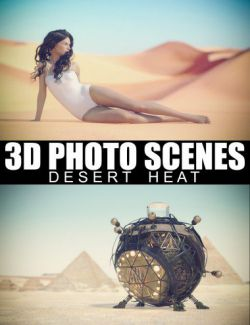 3D Photo Scenes- Desert Heat